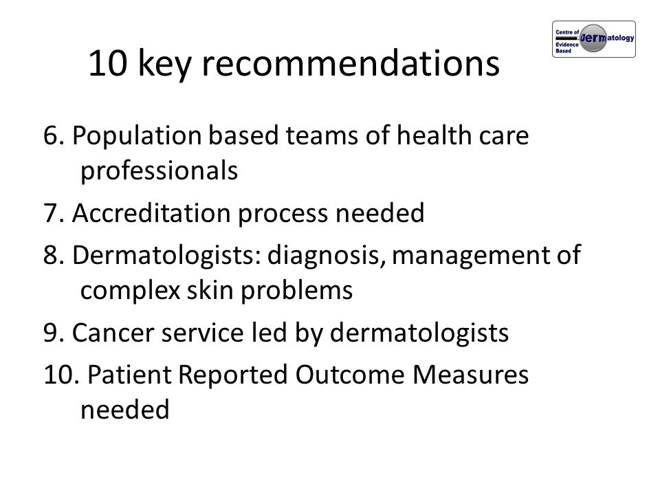 10 key recommendations