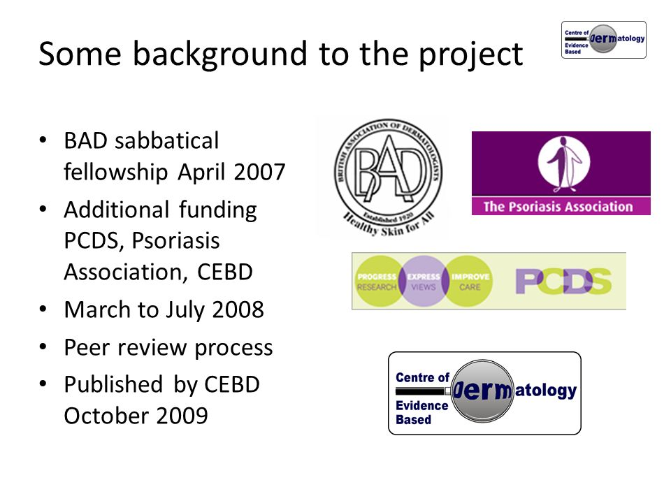 Some background to the project