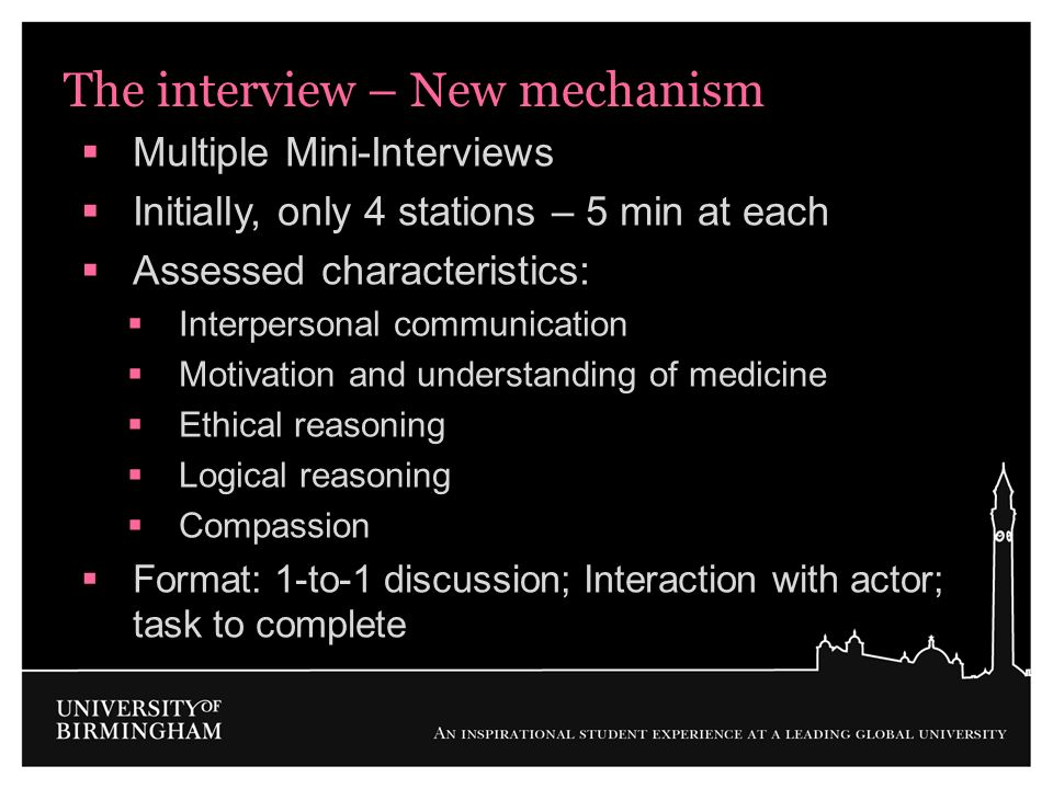 The interview – New mechanism