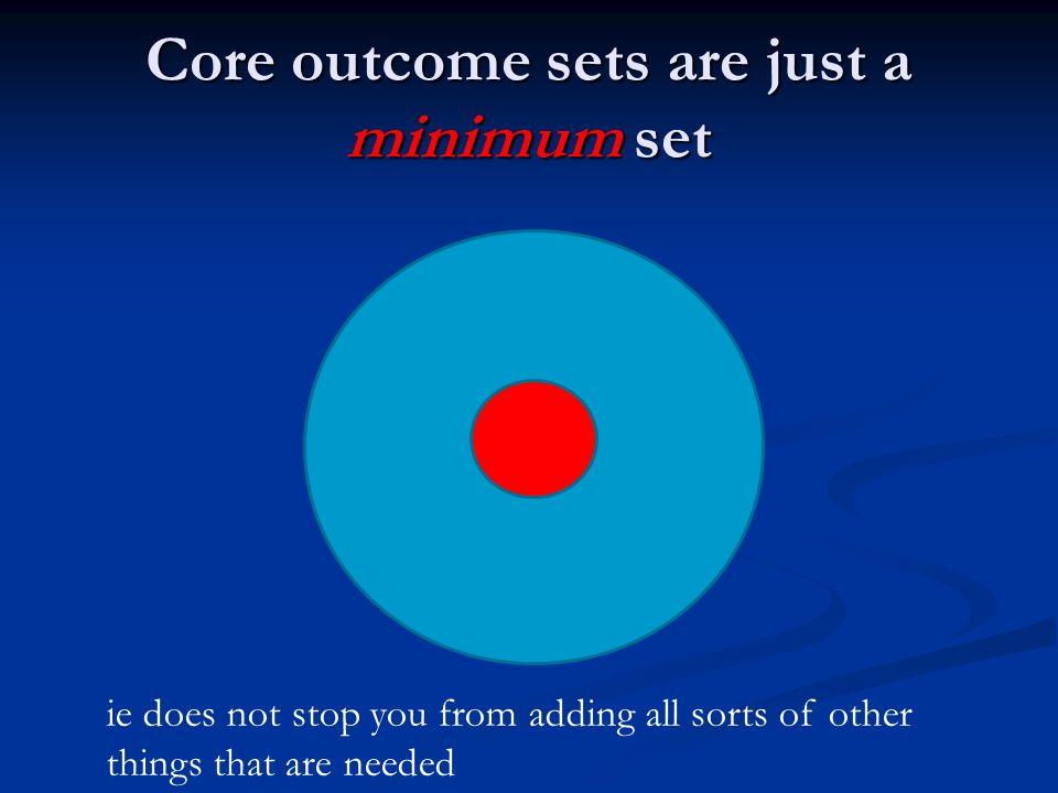 Core outcome sets are just a minimum set