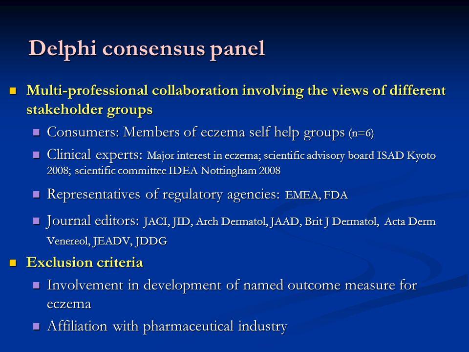 Delphi consensus panel