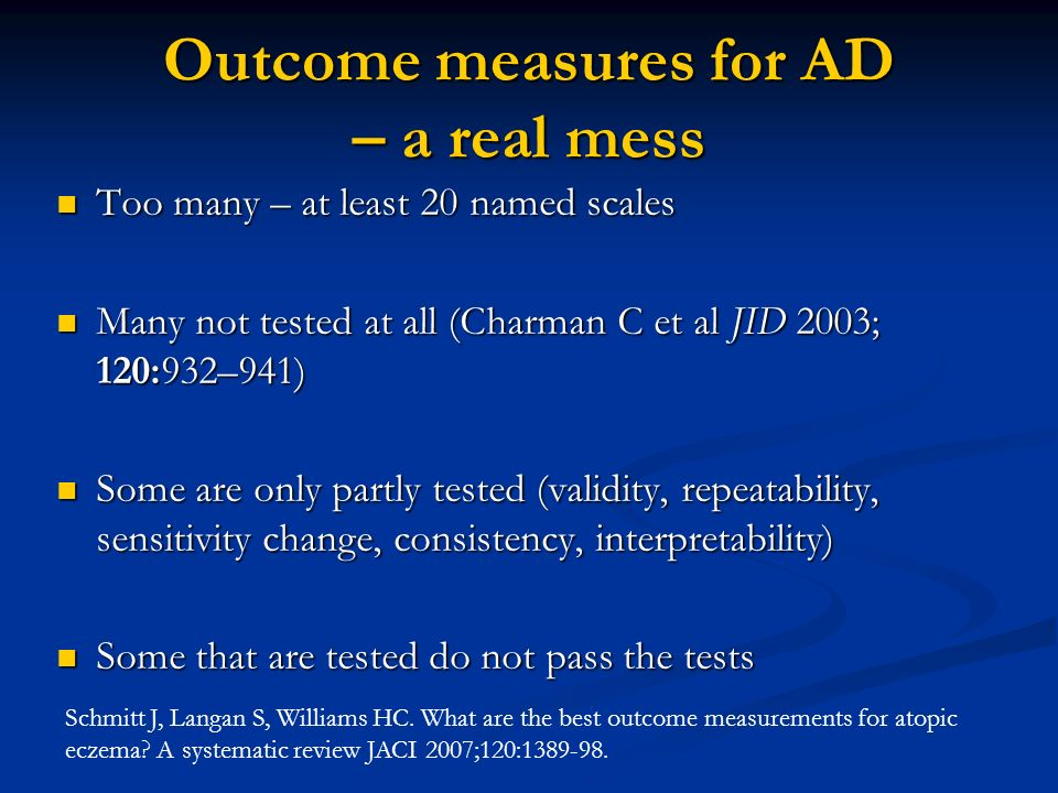 Outcome measures for AD – a real mess
