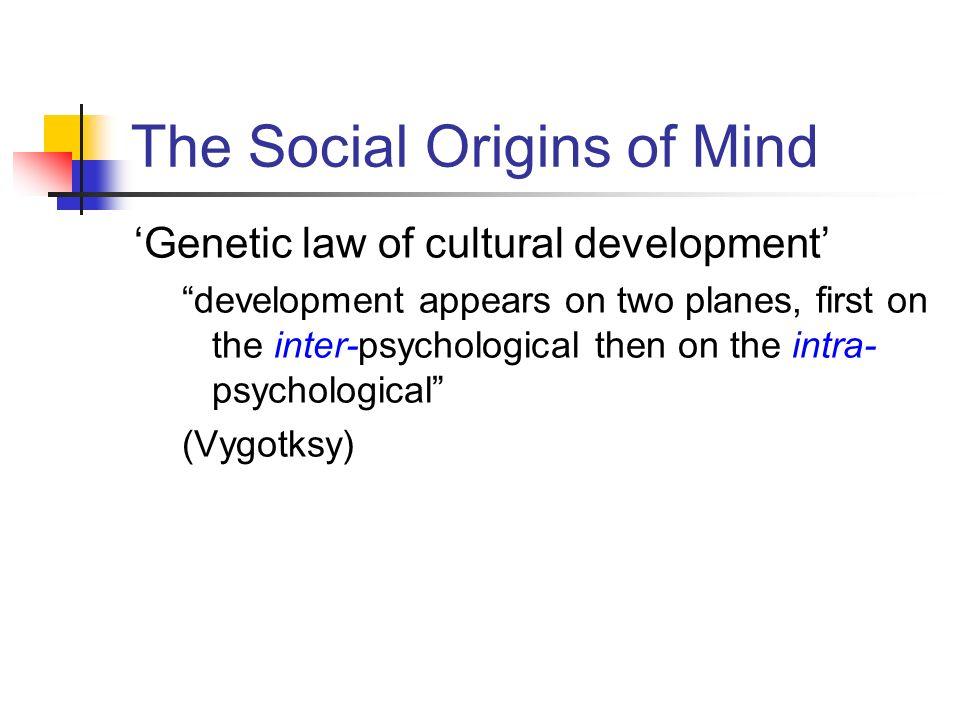 The Social Origins of Mind