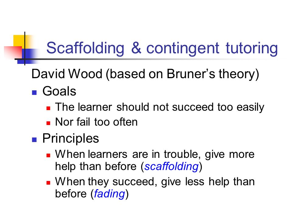 Scaffolding & contingent tutoring