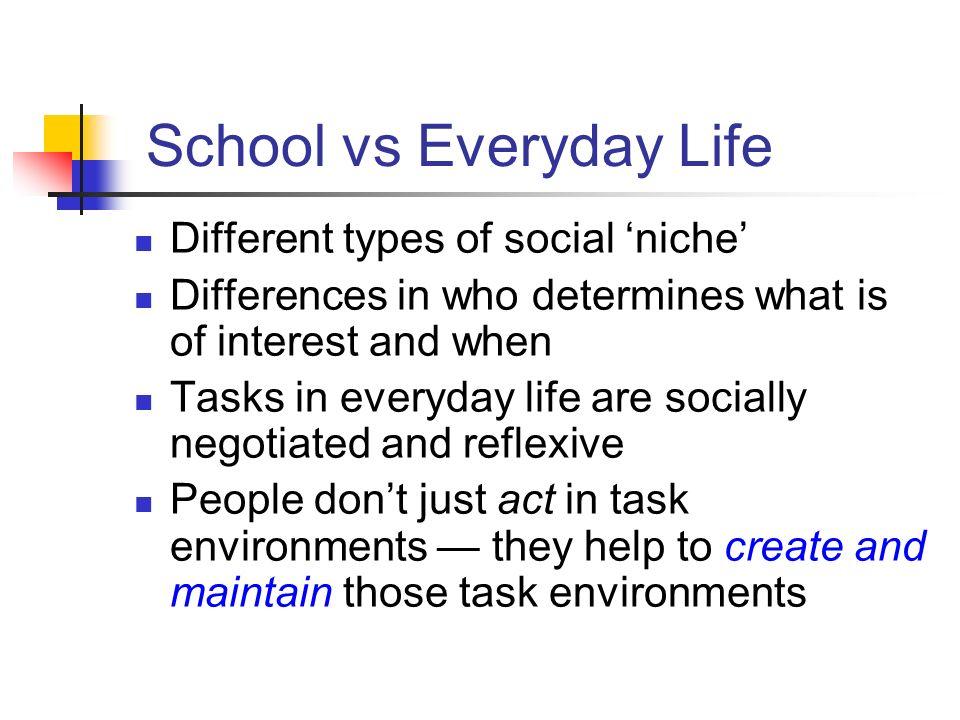 School vs Everyday Life