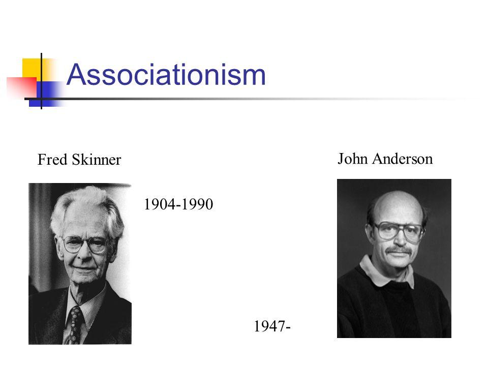 Associationism Fred Skinner John Anderson 1904-1990 1947-
