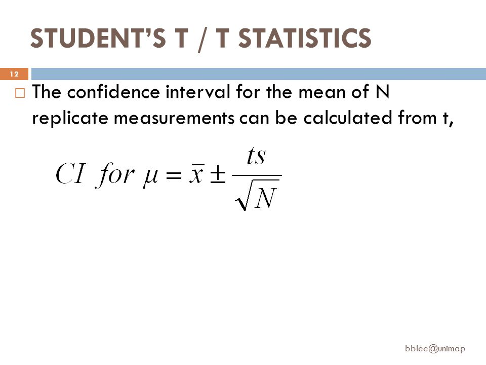 Overview confidence intervals student s t t statistics for T table 99 confidence interval