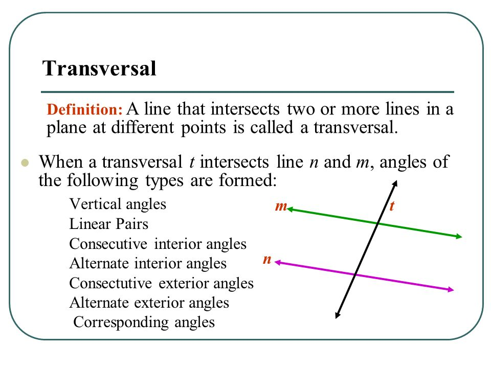 Angles and Parallel Lines - ppt video online download