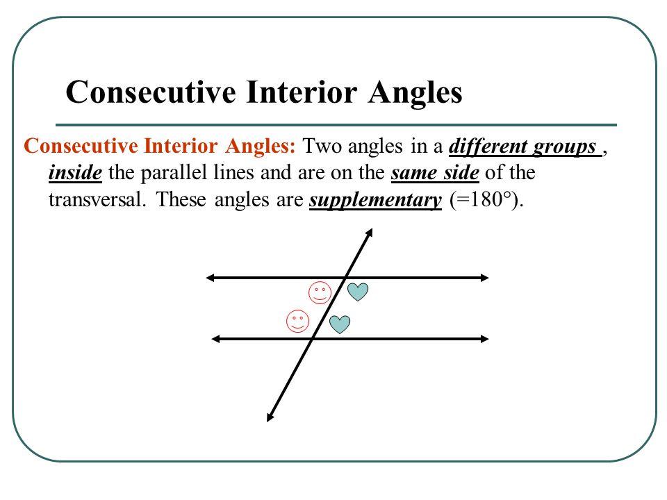 Consecutive Interior Angles