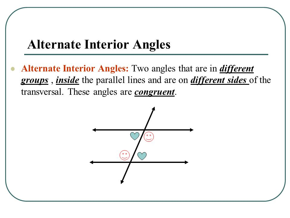 What does alternate interior angles mean in geometry