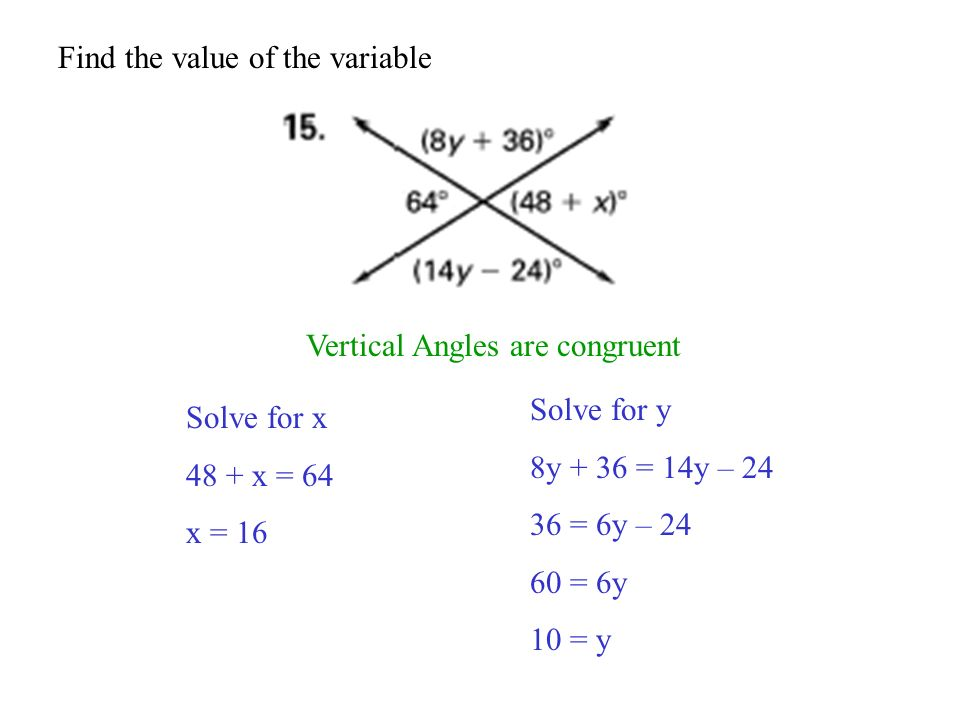Find the value of the variable
