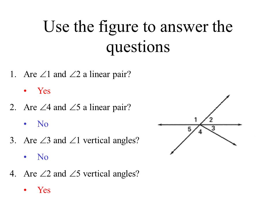 Use the figure to answer the questions