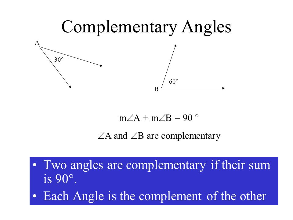 A and B are complementary