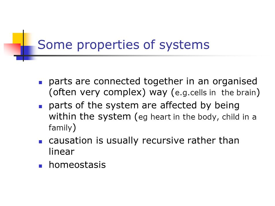 Some properties of systems
