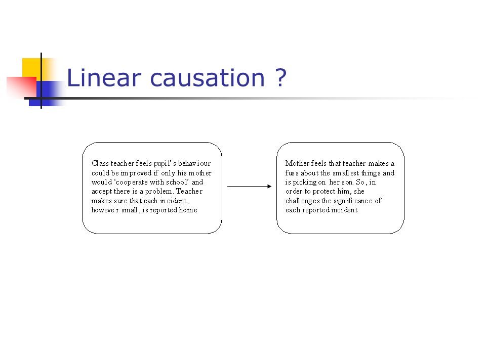 Linear causation