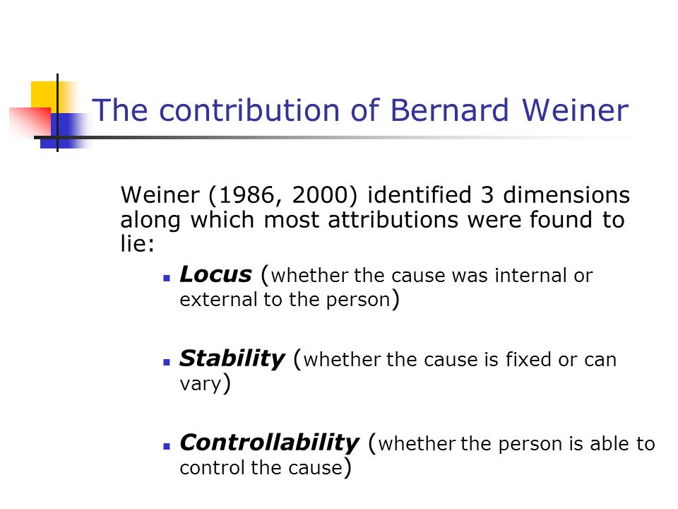 The contribution of Bernard Weiner
