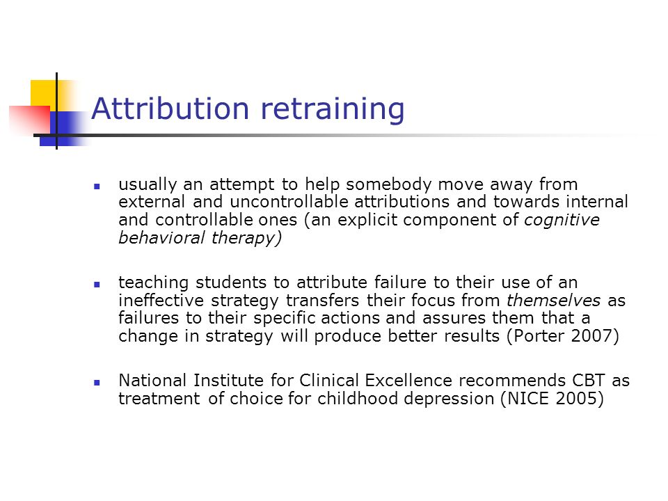 Attribution retraining