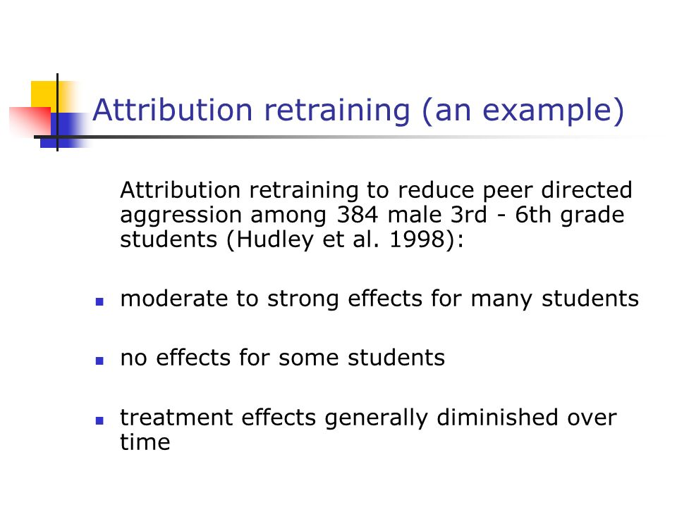 Attribution retraining (an example)