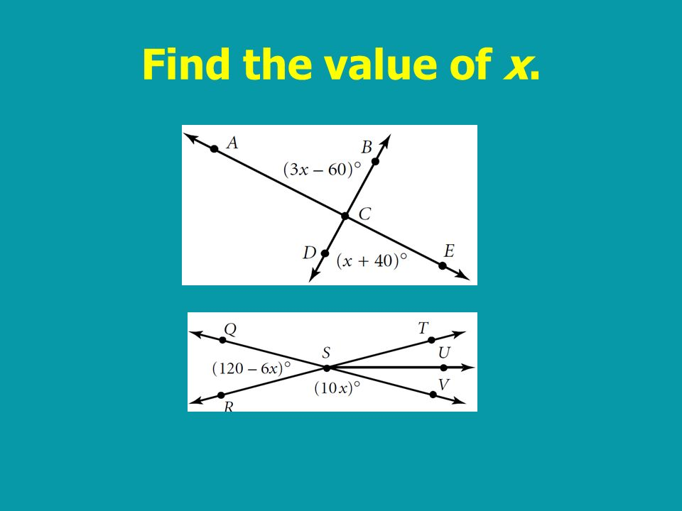 Find the value of x.