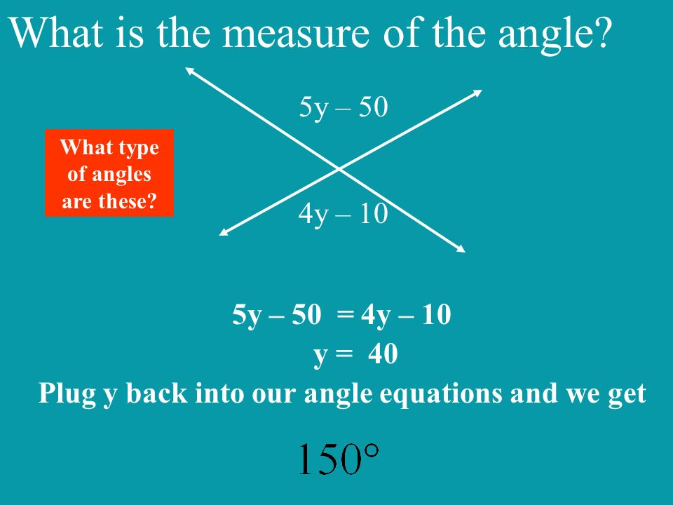 What is the measure of the angle