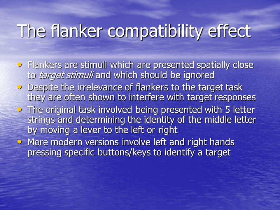 The flanker compatibility effect