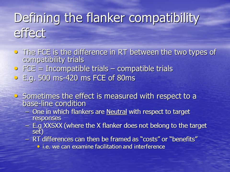 Defining the flanker compatibility effect