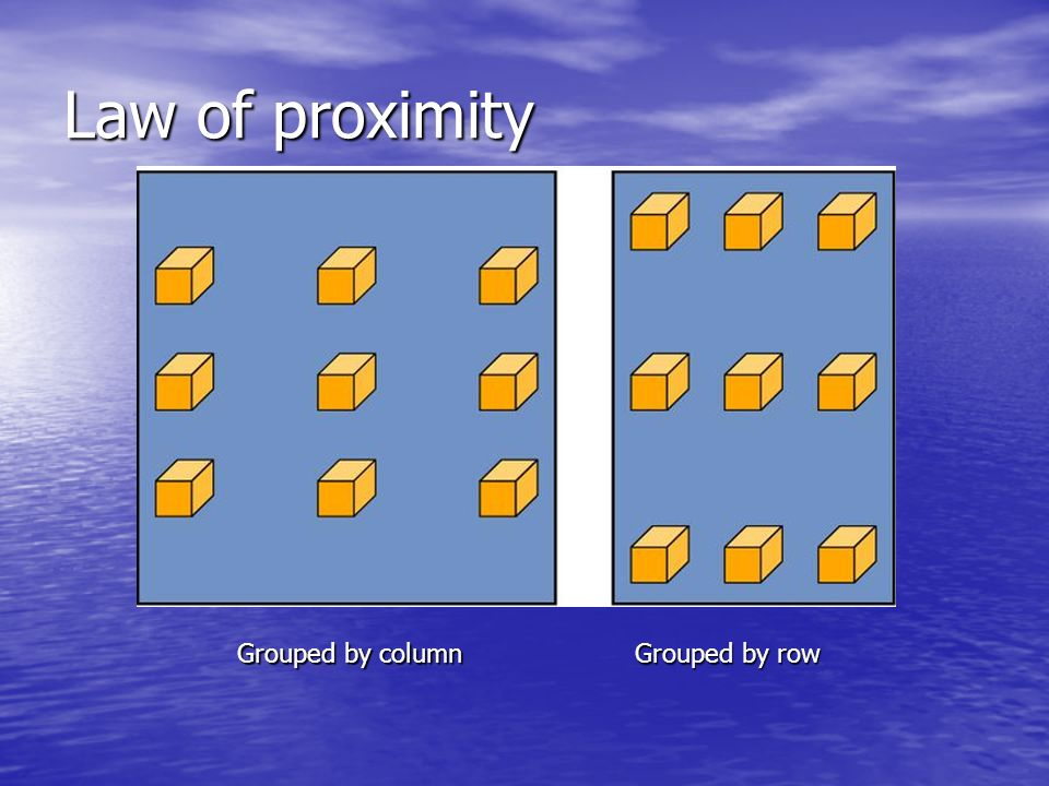 Law of proximity Grouped by column Grouped by row