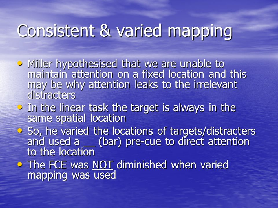 Consistent & varied mapping
