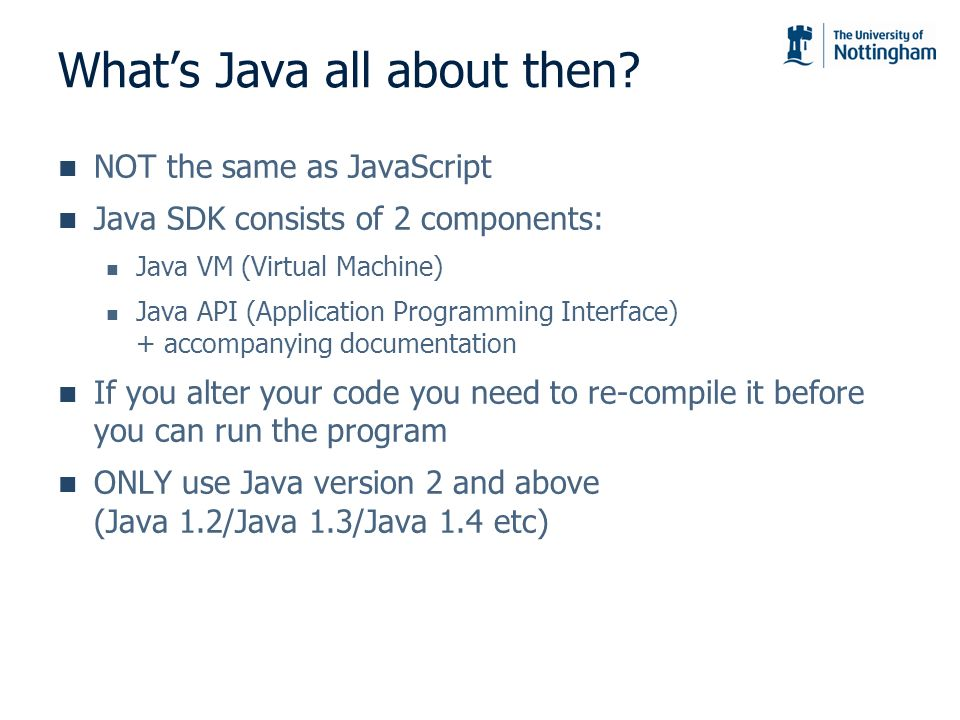 What's Java all about then