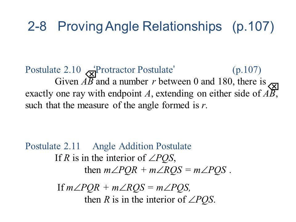 2-8 Proving Angle Relationships (p.107)