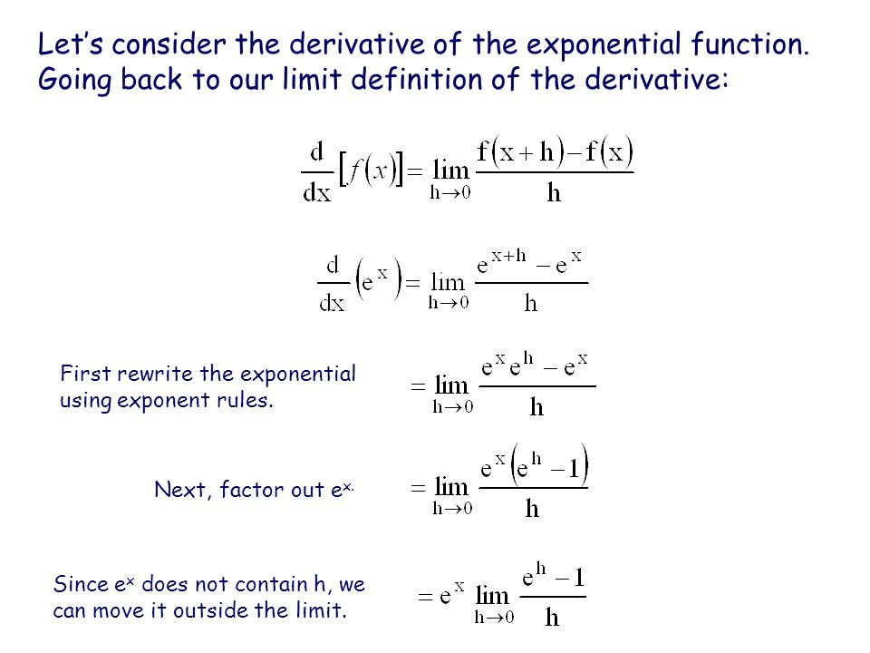 ex, lnx and the chain rule - ppt video online download