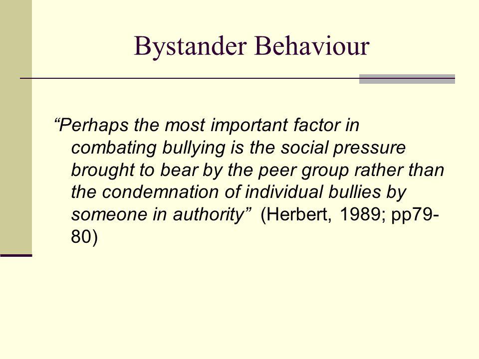 Bystander Behaviour