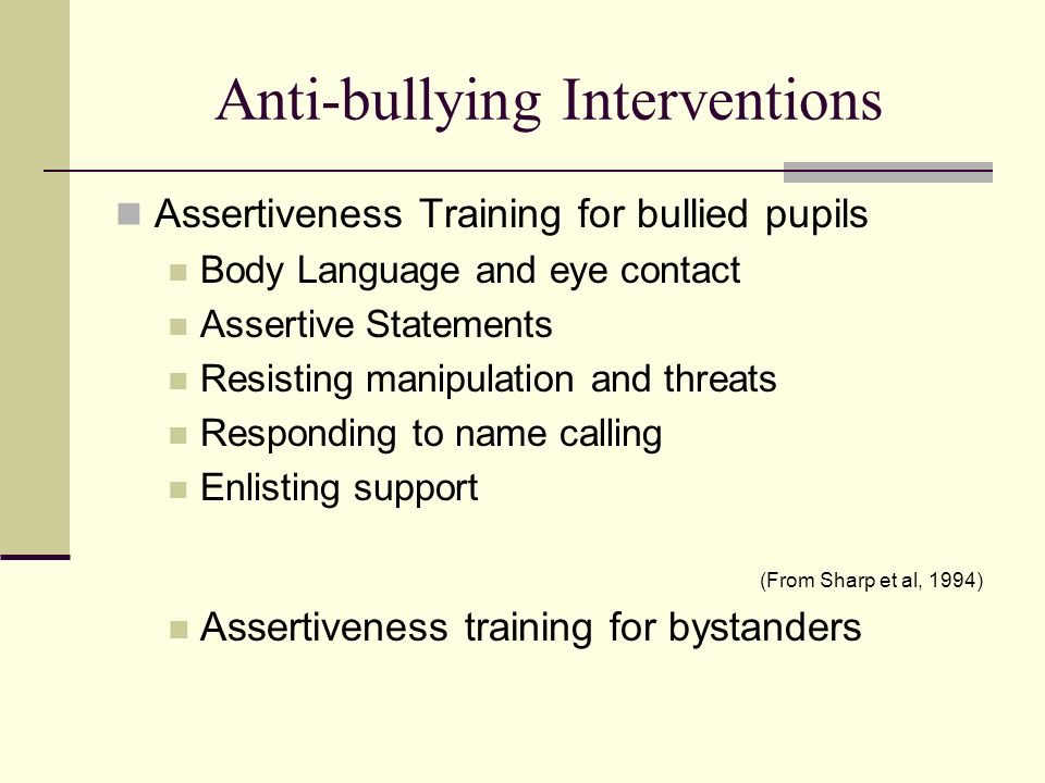 Anti-bullying Interventions