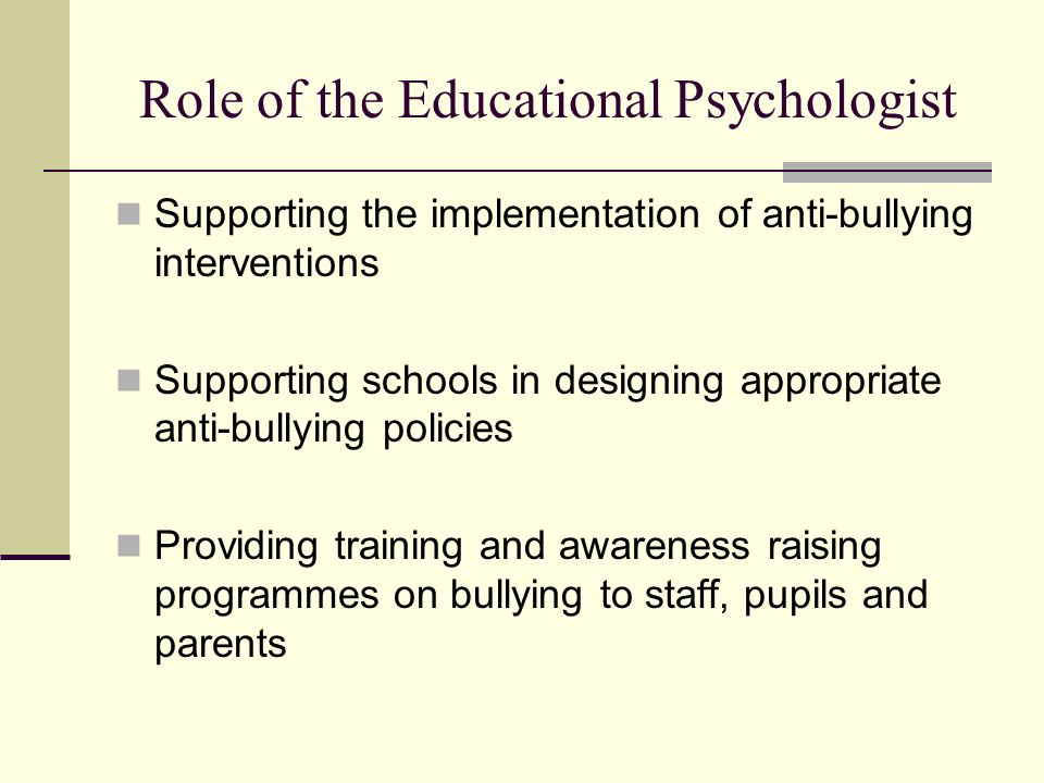 Role of the Educational Psychologist