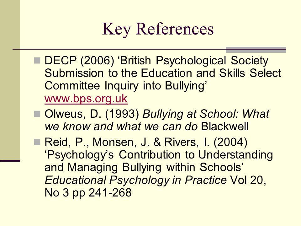 Key References