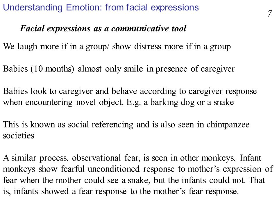 Understanding Emotion: from facial expressions