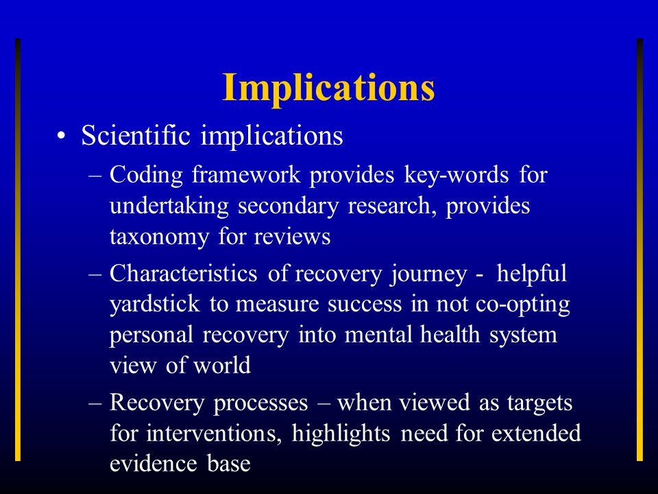 Implications Scientific implications