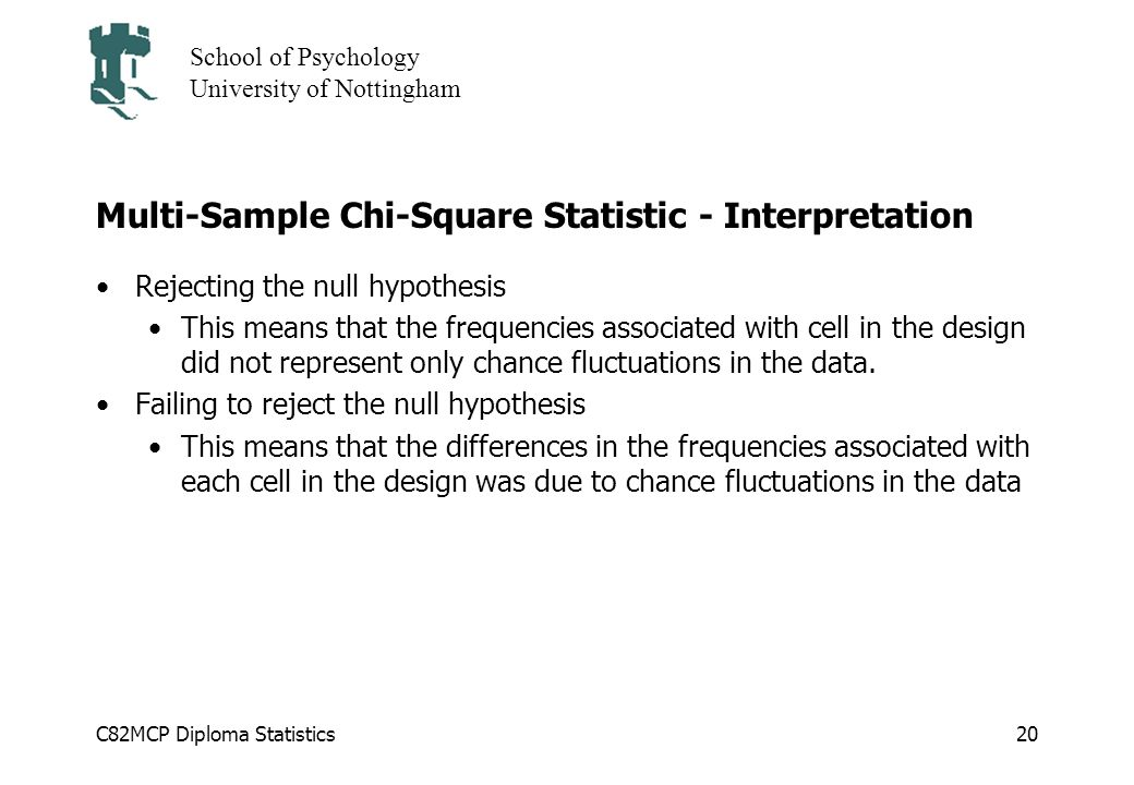 Multi-Sample Chi-Square Statistic - Interpretation
