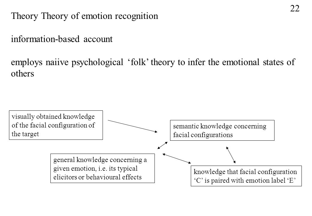 Theory Theory of emotion recognition information-based account