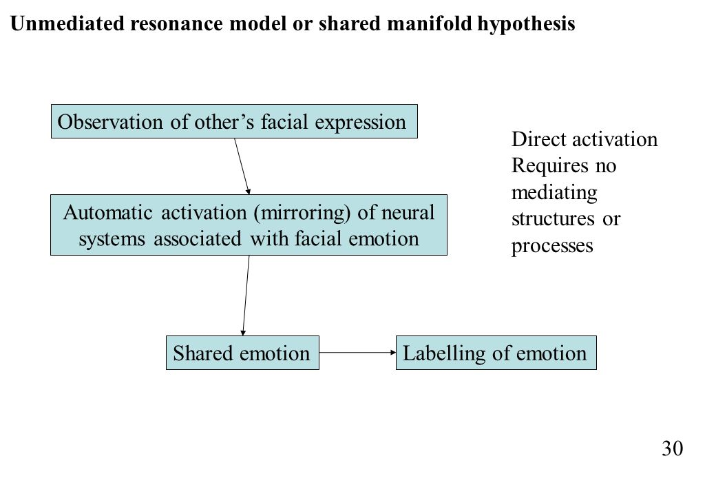 Unmediated resonance model or shared manifold hypothesis