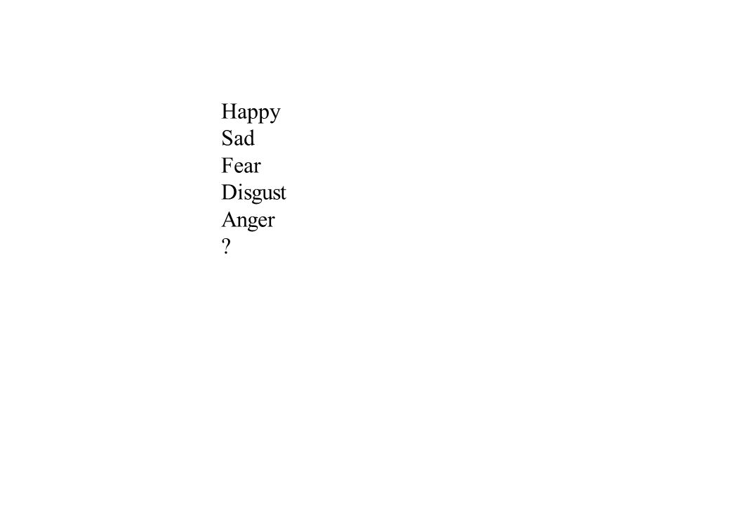 Happy Sad Fear Disgust Anger