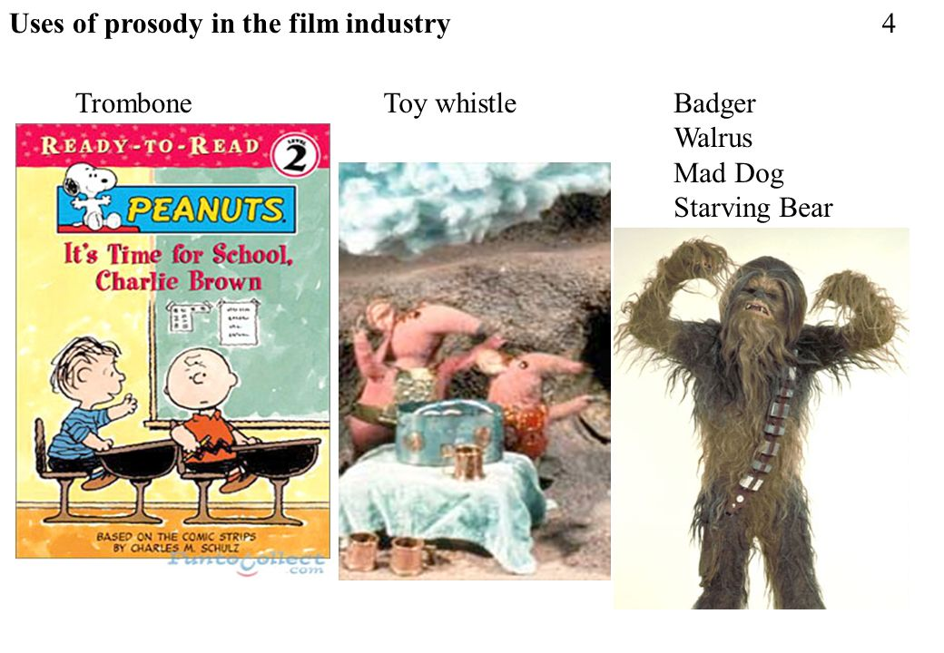Uses of prosody in the film industry
