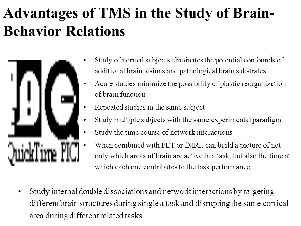 Advantages of TMS in the Study of Brain-Behavior Relations