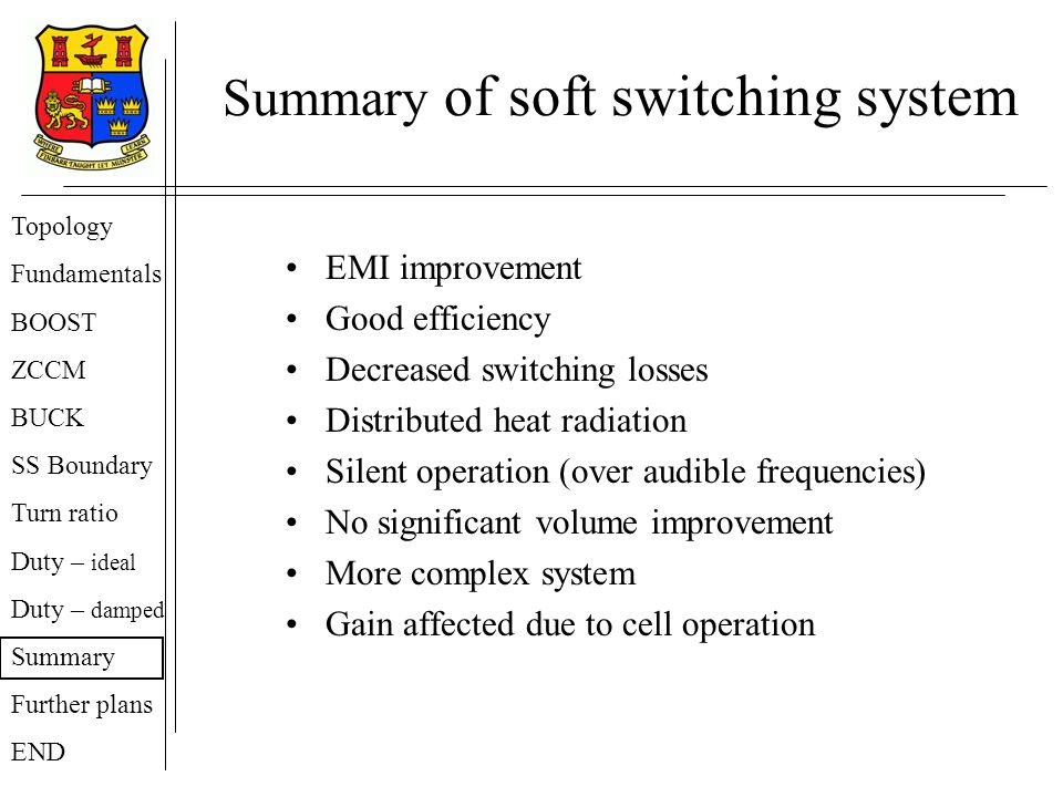 Summary of soft switching system