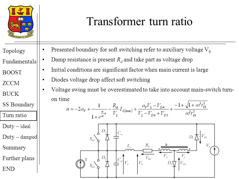 Transformer turn ratio