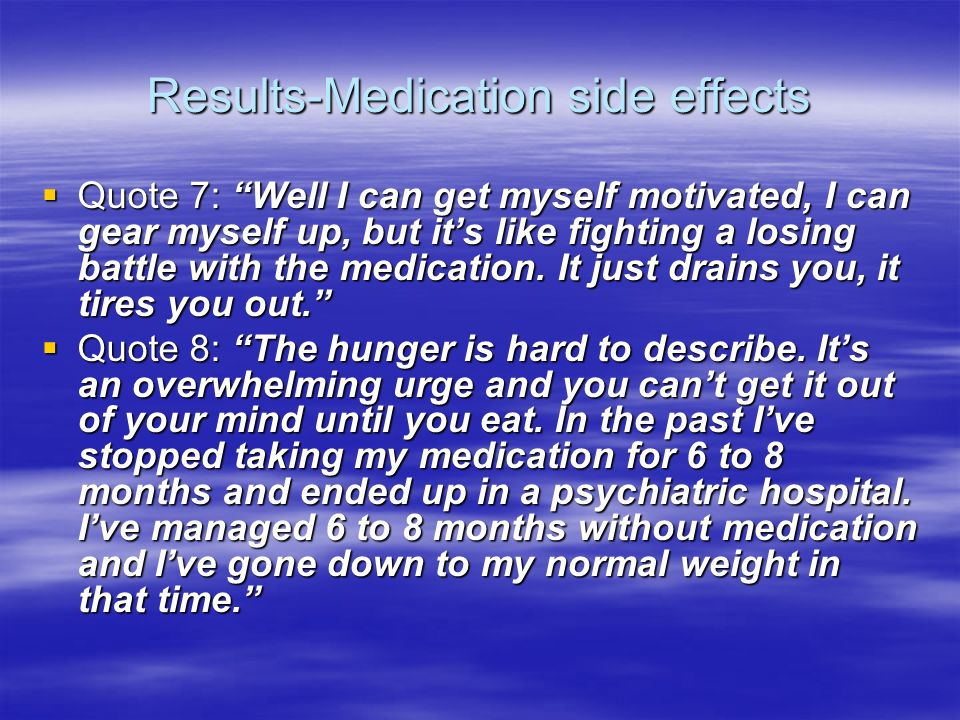 Results-Medication side effects