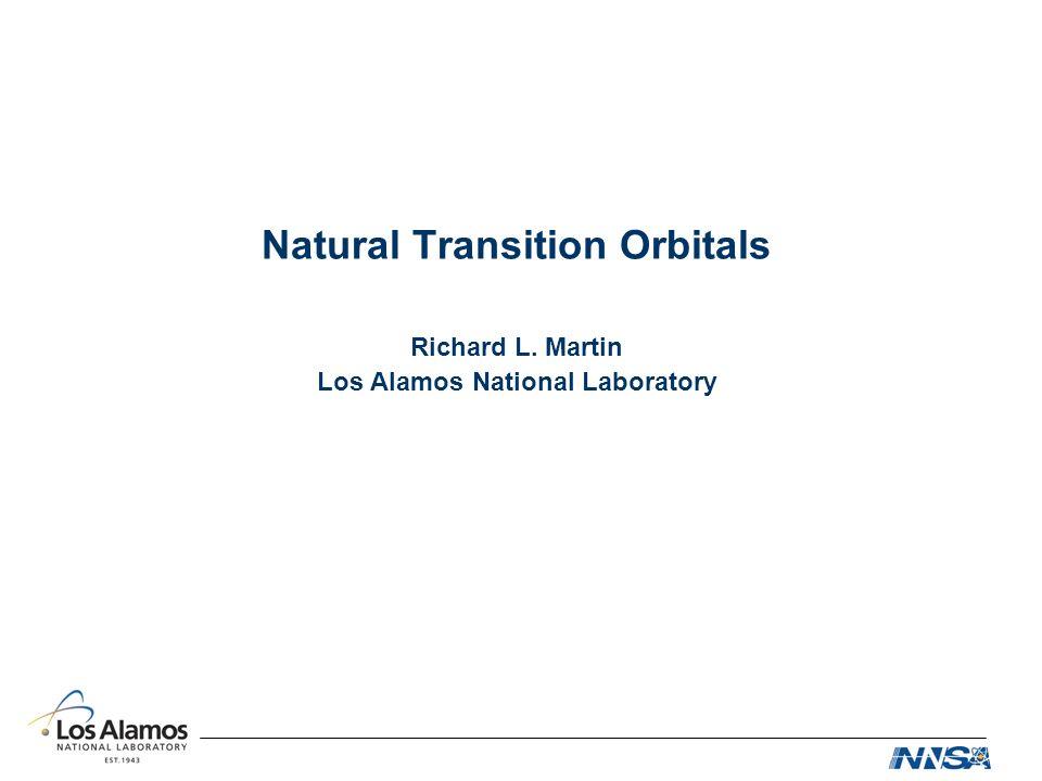 Natural Transition Orbitals Richard L