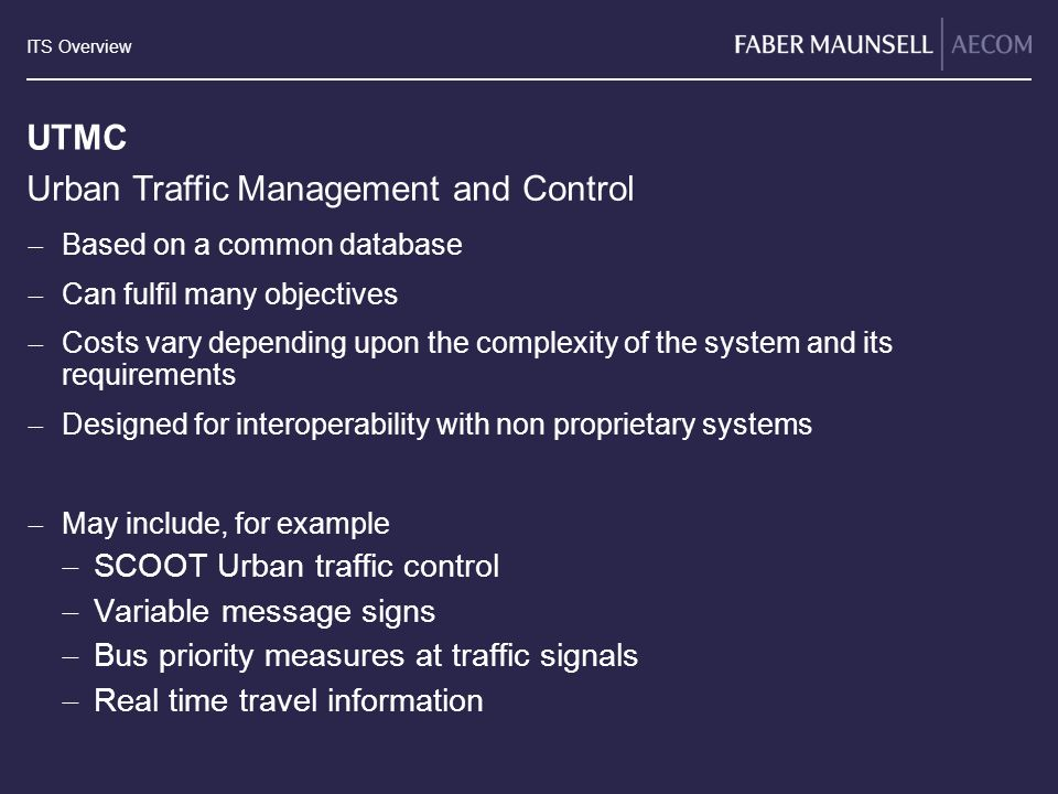 Urban Traffic Management and Control