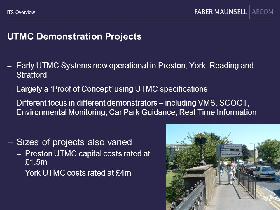 UTMC Demonstration Projects