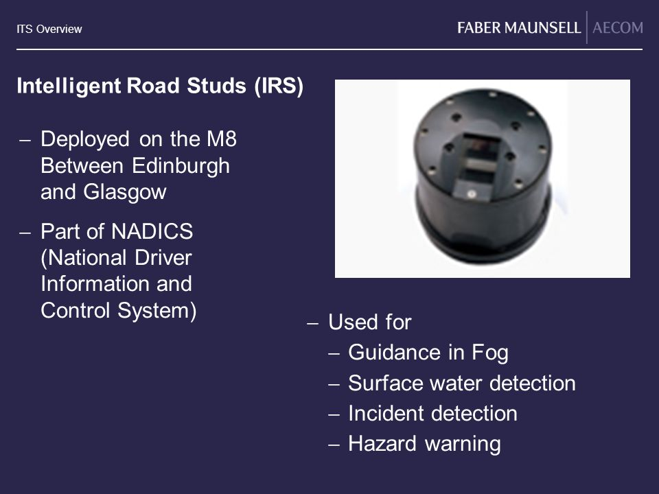 Intelligent Road Studs (IRS)